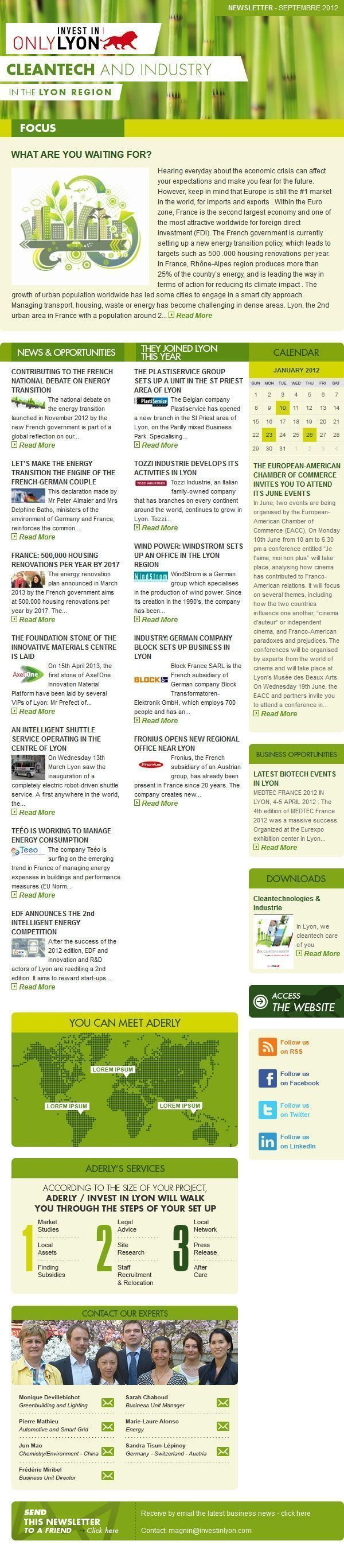 Newsletter Cleantechnologies